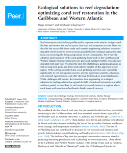 Ecological solutions to reef degradation: optimizing coral reef restoration in the Caribbean and Western Atlantic